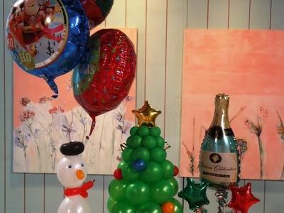 Manualidades con globos  -Como hacer adornos navideños - Maricel Merigo