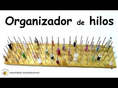Manualidades: organizador de hilos para coser. sewing thread organizer