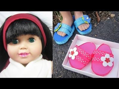 Manualidades para muñecas American Girl: Cómo hacer zapatillas para tu muñeca de 18 pulgadas