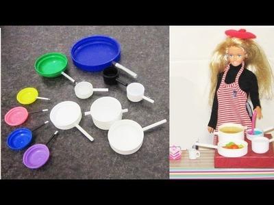 Manualidades para muñecas: Haz sartenes y ollas para muñecas- Barbies, Monster High, American Girl