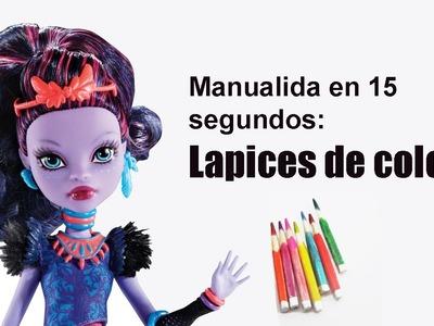 Manualidades para muñecas: Haz lápices de colores para muñecas