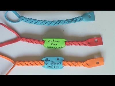 Manualidades para regalar - pulseras de goma eva - Manualidades para todos