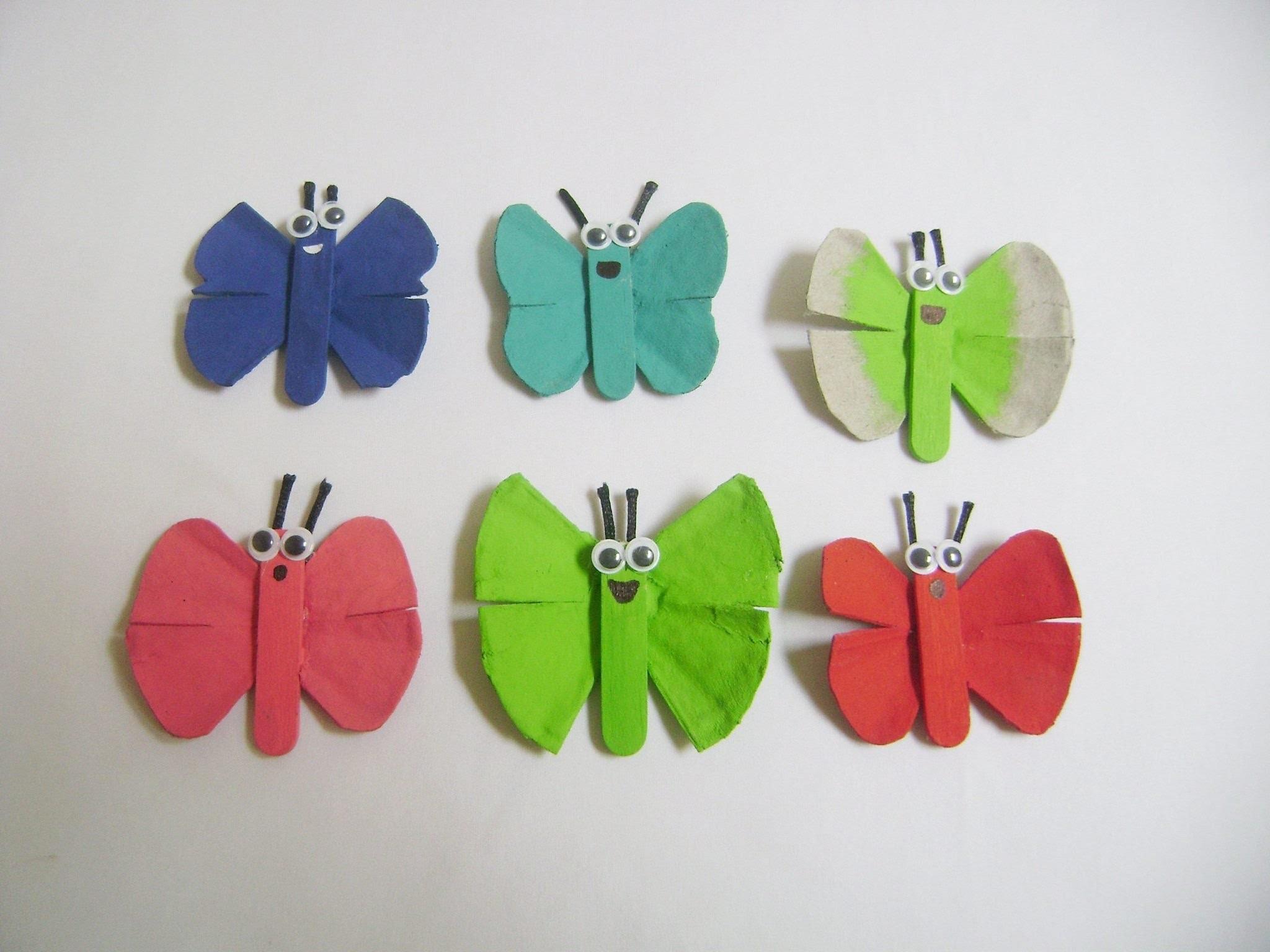 Mariposas de Cartón de huevo