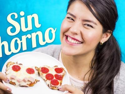 MI PIZZA SIN HORNO EN MINUTOS | RECETA PARA HACER PIZZA COMO HACER | MUSAS
