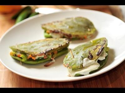 Nopales rellenos - Recetas de cocina mexicana- Baked nopales