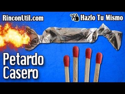 Petardo Casero | Explosivo casero | Mini bomba casera