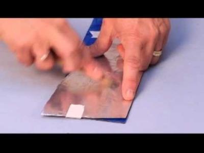 Porta retrato con apliques de aluminio