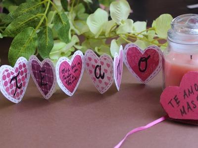 Tarjeta Corazón-Acordeón: Te amo mas que.