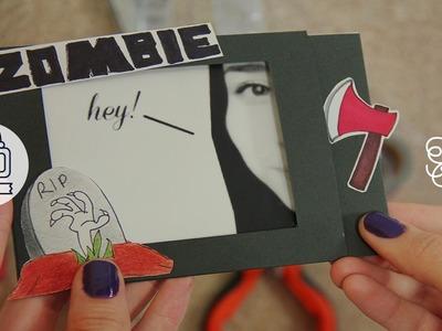Tarjeta mágica - invitación zombie | Craftingeek