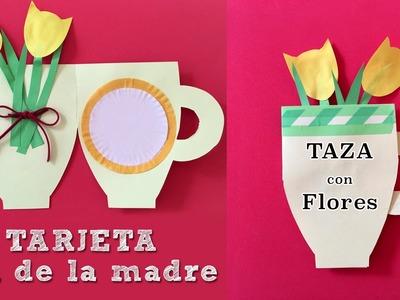 Tarjeta para el dia de la madre en forma de taza