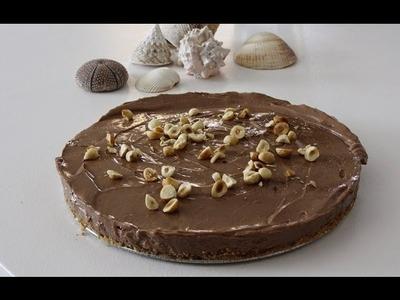 Tarta de Queso y Nutella (Sin horno) -  Nutella Cheesecake fácil y rápida