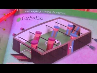 Tutorial futbolin reciclando caja y tubos de papel