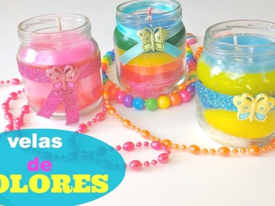 Velas arcoiris con crayolas\dye candles with crayons