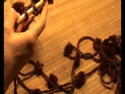 Bufanda  de lana con pompones
