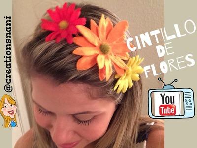Cintillo de flores - Flower Headbands   Creations Nani