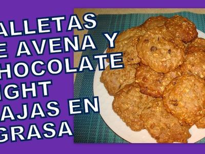 Cómo hacer Galletas de avena banana y chocolate light  BAJAS EN GRASA Saludable