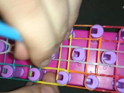 Como Hacer pulsera Escalera De Color Con Gomitas MUY FACIL