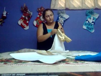 Como hacer un angel navideño 3 de 5