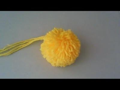 Cómo hacer un pompón de lana