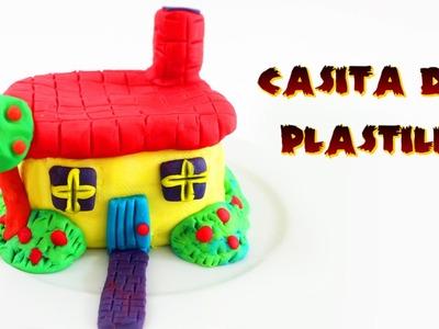 Cómo hacer una casita de plastilina - manualidades infantiles