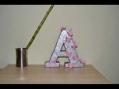Cómo hacer una letra de cartón para decorar | facilisimo.com