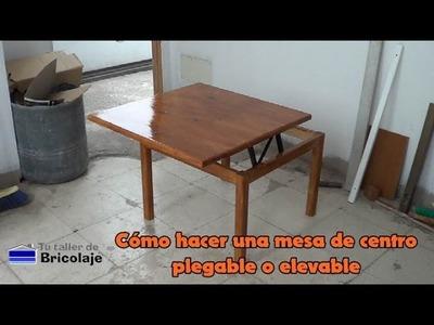 Cómo hacer una mesa de centro plegable o elevable