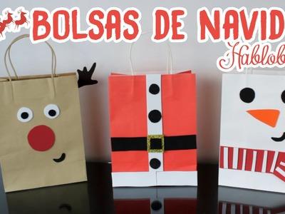 DECORAR BOLSAS DE REGALO. IDEAS PARA NAVIDAD - Hablobajito