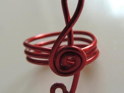 DIY como hacer un anillo alambre clave de sol. Treble clef Ring wire.