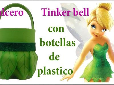 DULCERO DE TINKER BELL CON BOTELLAS DE PLASTICO