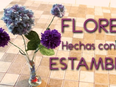 Flores hechas con estambre.  how to make yarn flowers ♥