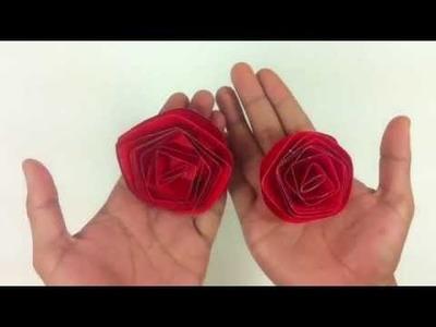 Hacer una rosa con cartulina - Flores de papel