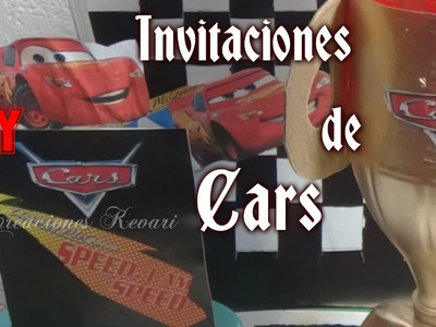 Invitaciones de Cars DIY Faciles. Cars Birthday Invitations