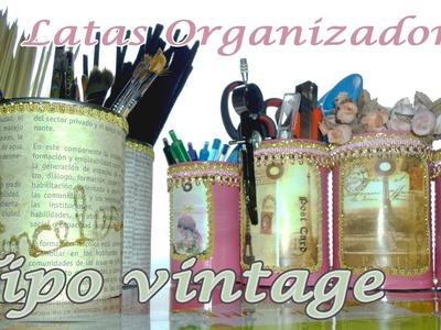 Organizador con latas al estilo vintage - Candy Bu