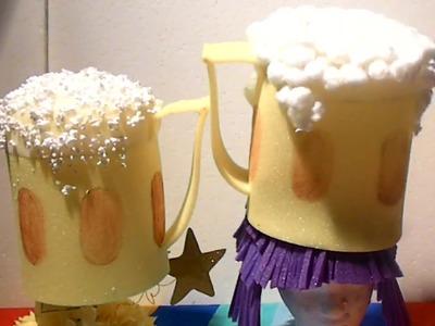Sombrero de goma espuma con forma de jarra de Cerveza