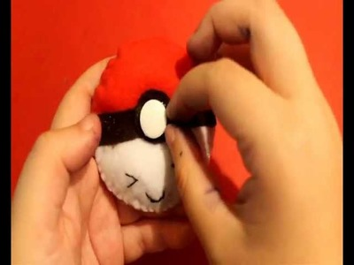 ♥Tutorial de  Pokéball Kawaii en Fieltro♥