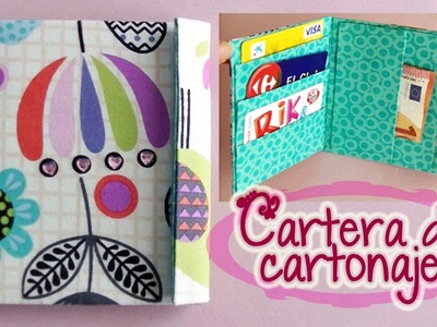 Cartera de tela y cartón reciclado - Wallet fabric and recycled cardboard