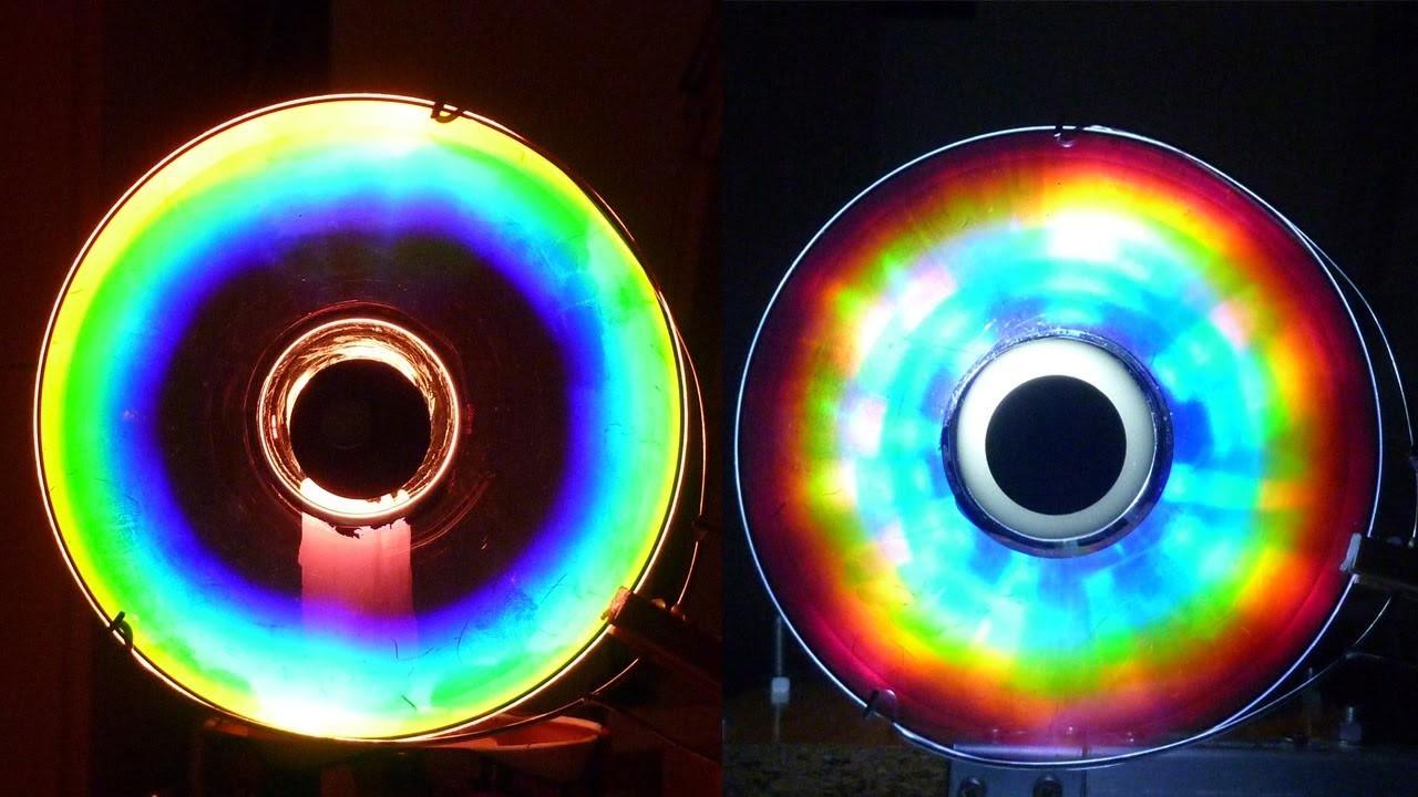 Cómo hacer Colores Alucinantes con un CD (Arco iris Casero).experiencia de Física