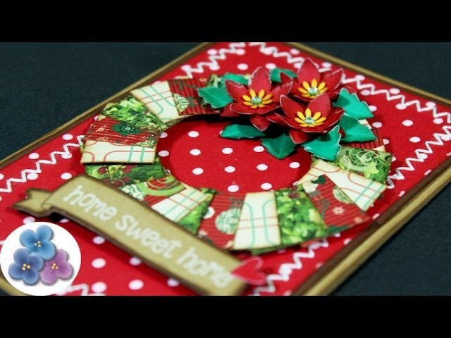 Como Hacer Tarjetas Flor de Navidad *Ponsetia Christmas Cards* Manualidades de Navidad Pintura Facil