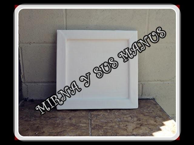 Como hacer un marco de carton. Reciclaje .How to make a cardboard frame. recycling