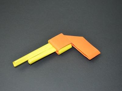 Como hacer una pistola de papel