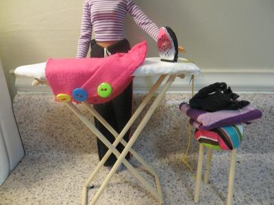Cómo hacer una tabla de planchar para muñecas. How to make a doll ironing board