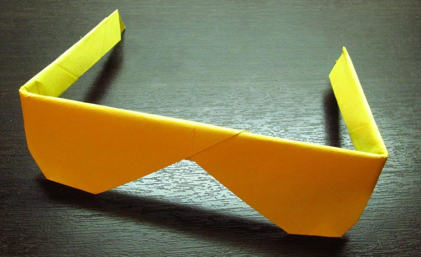 Como hacer unos LENTES DE PAPEL Super Cool | Origamis de papel paso a paso (Muy fácil)