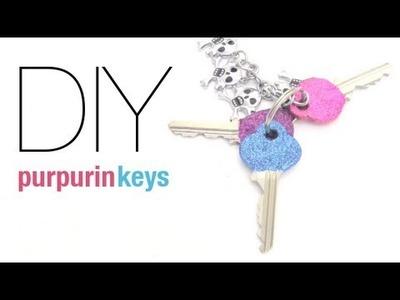 Decora tus propias llaves con purpurina