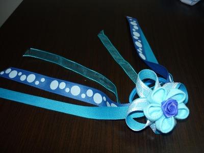 DIY moños y flores en listón o tela  paso a paso para accesorios No.025 Manualidades la Hormiga