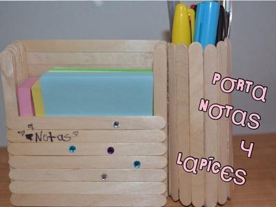 Diy: porta notas y organizador de lapices dos en uno