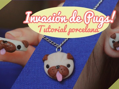 ♡ INVASIÓN DE PUGS!. Tutorial porcelana en frío ♡  By Piyoasdf