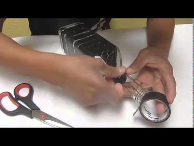 Manualidad: Como decorar una botella de vidrio