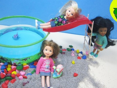 Manualidades para muñecas: Haz una piscina, alberca o  pileta redonda con tobogán para tu muñeca