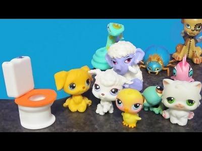 Manualidades para muñecas: Haz  un inodoro realista para mascotas lps o monster high con reciclaje
