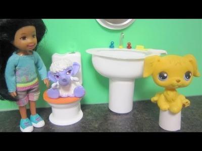 Manualidades para muñecas: Haz un lavamanos realista para mascotas lps o monster high con reciclaje